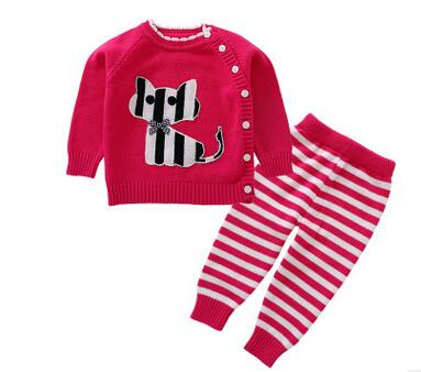 2017 new Girls Clothing Free shipping infant Long Sleeve Spring Autumn cotton Baby Sets anlencool hot sale free shipping specials korean version of the new spring autumn child clothing suit baby clothing girls dress