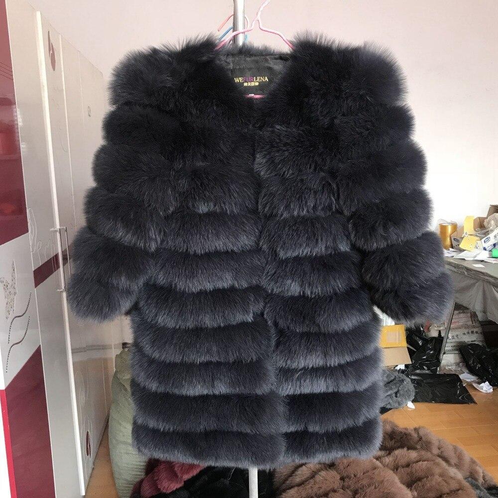 2018 натуральным лисьим Мех животных пальто для женщин Природный натуральный мех куртки жилет Зимняя верхняя одежда