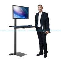 W840 Full Rotation Free Lifting Floor stand Monitor Keyboard Tray Holder monitor stand Sit-Stand Workstation TV wall mount