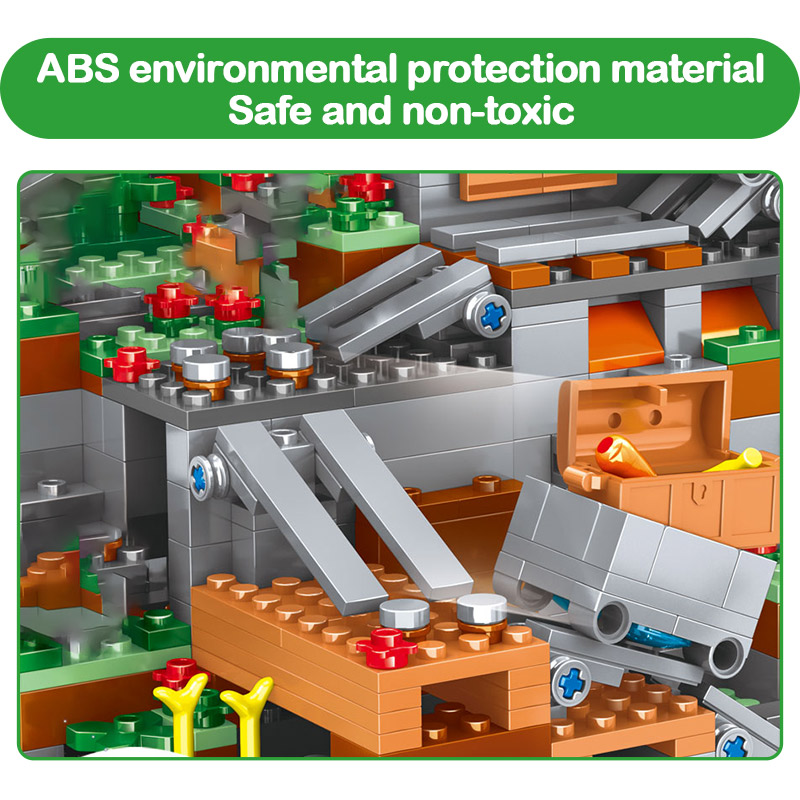 construcao cachoeira tijolos conjuntos brinquedos para criancas presentes 02