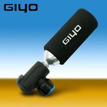GIYO CO2 насос для Велосипедный Шредер Presta адаптер велосипедный насос Надувное алюминиевое колесо трубка мини Ручные велосипедные насосы без СО2 картриджа