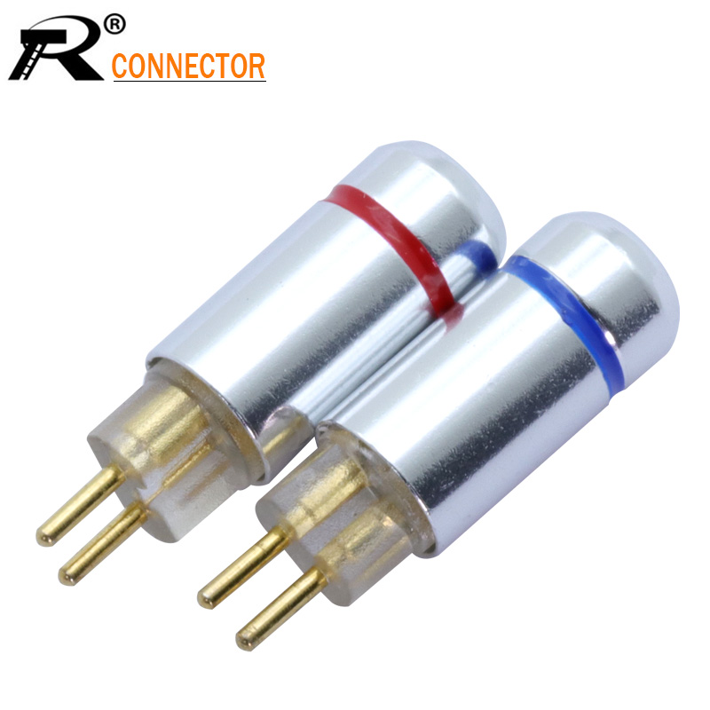 2pcs/1pair 2pin Connector Earphone MMCX Upgrade Cable PIN Plug DIY Audio Plug Jack Soldering Conectors