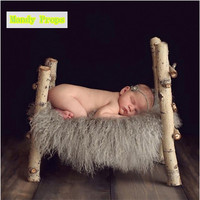 Newborn curly wool blanket photography props,basket filler cushion blanket for baby photography props