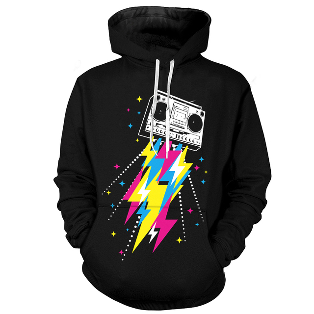 04f9d2fb78fd Cloudstyle Graphic Hoodies Men s Hip Hop Hooded 3D Lightning Thurder Printed  Sweatshirts Funny Cartoon Pullovers Unisex Clothing
