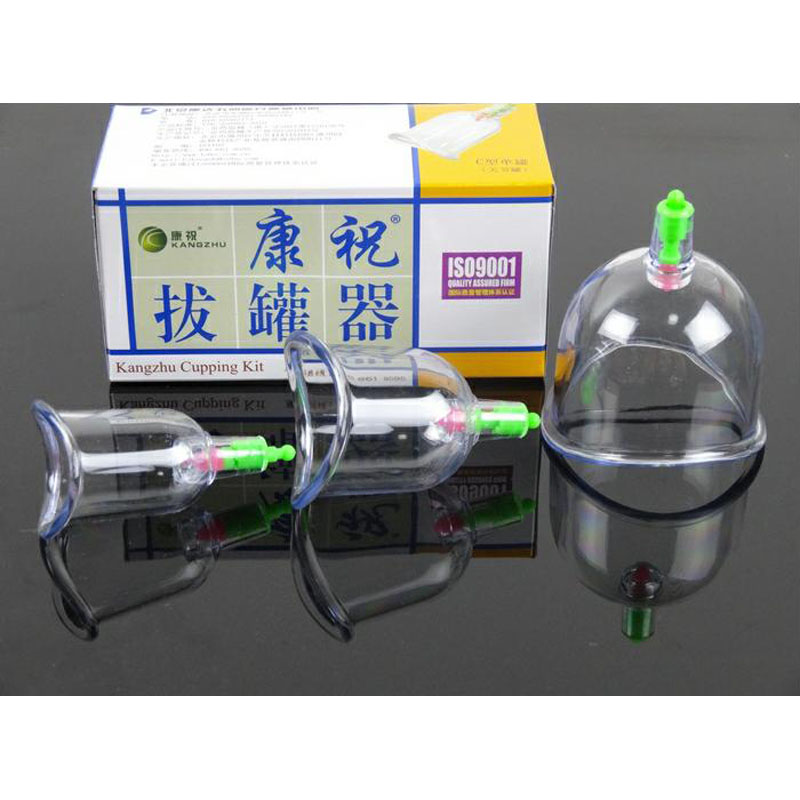 Chinese cupping Kangzhu U Curved Vacuum Cupping Suction Joint 3 cup cupping therapy joints cups Traditional Acupuncture Massage