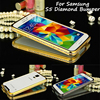 For Samsung S5 S 5 G900 Bumper Luxury Diamond Crystal Bling Metal Bumper Case Cover for Samsung Galaxy S5 G900 I9600 G900F G900A