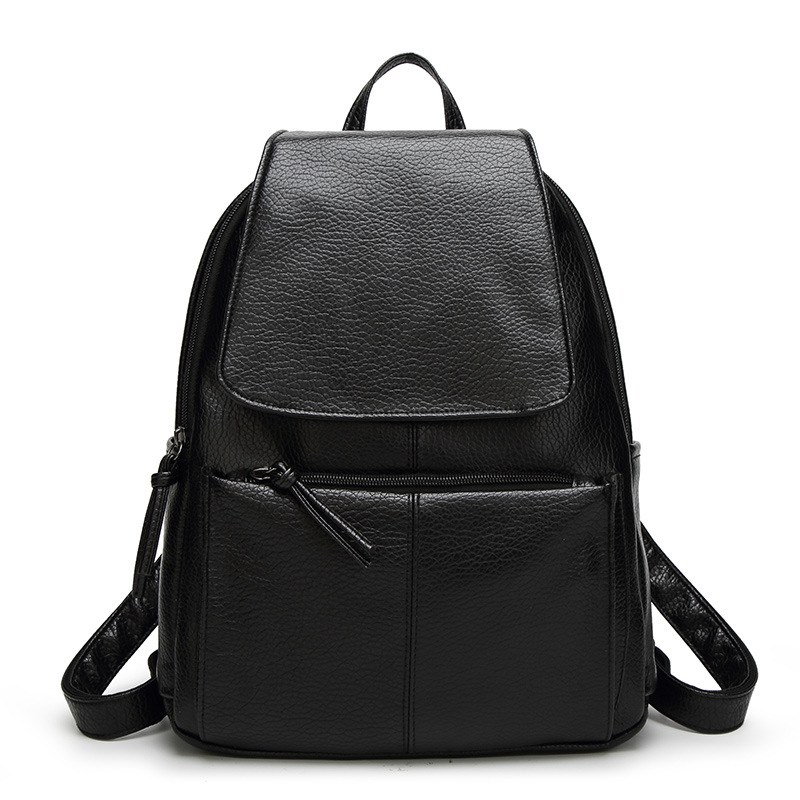 New Fashion Leather Women Backpack High Quality Female Ladies Student Bag Girl Brand Casual School Computer Package Luxury