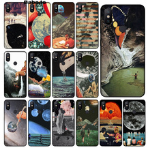 Babaite Vintage Trippy Art aesthetic Novelty Fundas Phone Case Cover for Redmi 5 plus Note Xiaomi Mi 6 8 SE 3