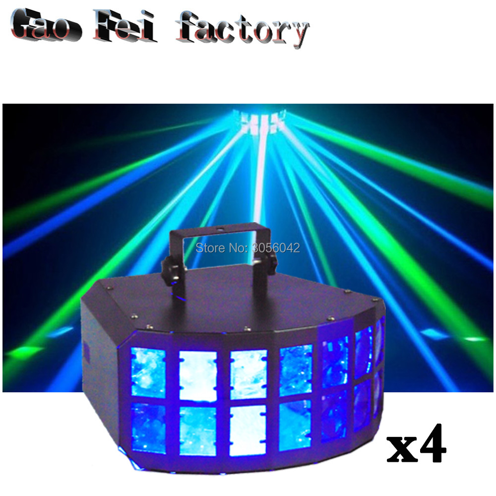 4pcs/lot Double Butterfly Effect Light 360 Degree Movement Fury LED DJ KTV4pcs/lot Double Butterfly Effect Light 360 Degree Movement Fury LED DJ KTV