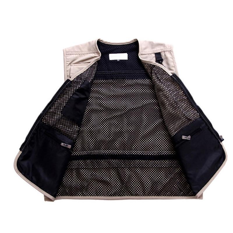 New Arrival Summer Mesh Casual Breathable Men Vest For Shooting Clothes Reporter Vest Jackets Multi pocket Photography Vest
