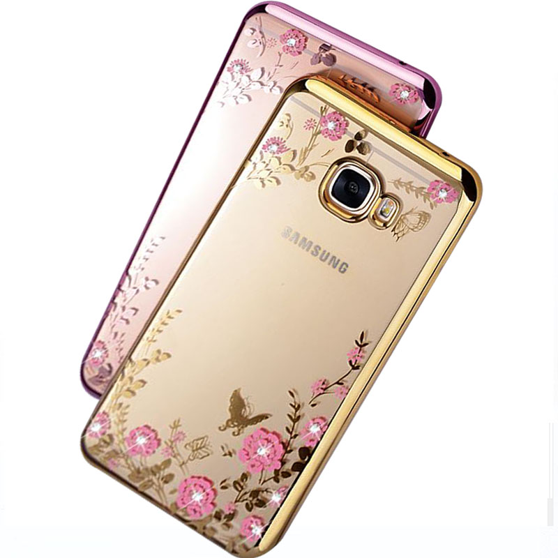 SemgCeKen luxury original rose gold tpu coque cover case for samsung galaxy j5 j7 prime 2016 silicon silicone soft diamond etui in Rhinestone Cases from Cellphones Telecommunications