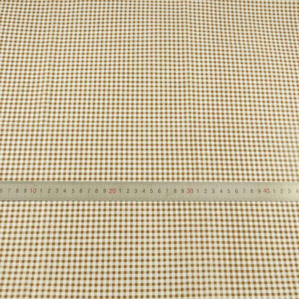 ブラウンと白のチェック柄パッチワーク生地綿生地ファットクォーターティッシュ工芸品人形テキスタイル縫製布 Telas Tecido