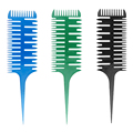 Professional Hair Salon Color Comb Hair Dyeing Comb For Hairstyling Barber Partition Hairstyling Comb In 6 Color