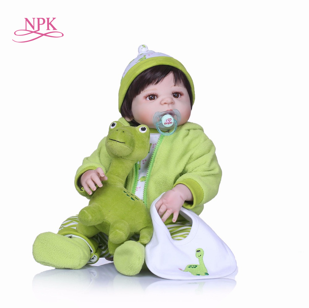 NPK 23 Lifelike full Silicone body Reborn Baby Menina Alive Newborn Baby Dolls Full Vinylgifts for