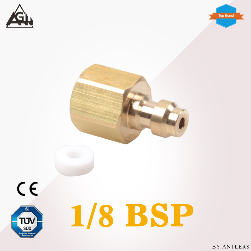 1/8 BSP Thread Air Pcp hand pump compressor adapter 8mm filling Paintball Airsoft Gun PCP Male Quick Disconnect Adapter
