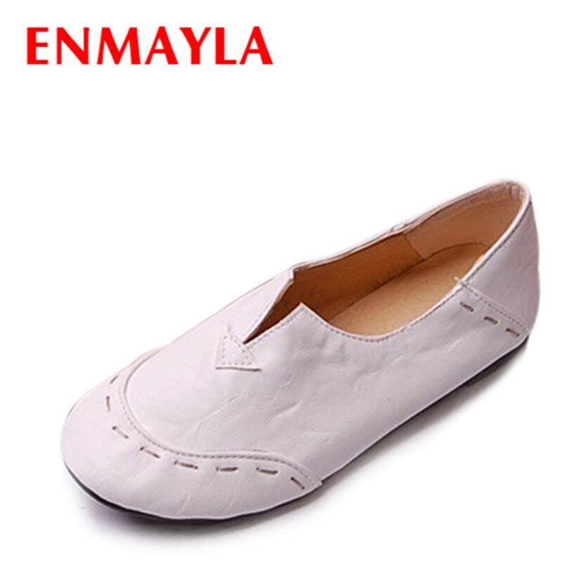 ENMAYLA Portátiles Más Populares Señoras de los Holgazanes Casual Zapatos de Muj