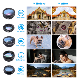 Image 5 - APEXEL 10 ב 1 טלפון עדשת ערכת אוניברסלי רחב זווית מאקרו CPL מסנן טלסקופ עדשת Fisheye עדשה עבור כמעט Smartphone