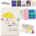 Wekays For Samsung Tab S2 8.0 Cartoon Elephant Leather Funda Case For Samsung Galaxy Tab S2 8.0 inch T710 T715 Tablet Cover Case