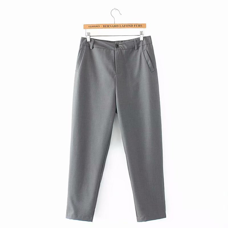 F42 Autumn Plus Size Women Clothing Ankle-length Pants 4XL Casual Fashion Loose straight Pants 8802 3