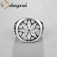 CHENGXUN anillo Vintage de Rusia, anillo de compromiso Vikingo, joyería escandinava grabada, anillo de boda hecho a mano para hombre