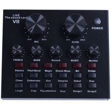V8 Sound Card Audio Interface External Usb Live Br