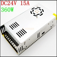 High quality AC 110V Or 220V to DC 360W 24V 15A Switching power supply for 24 volt led strip light driver transformer adapter