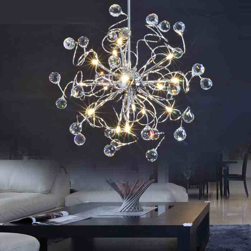 Free Shiping  Crystal Modern Chandelier Lighting Fixtures For Dinner Room And Bed Room With G4 15 LED Bulbs Height Adjustable 15 690 after dinner show