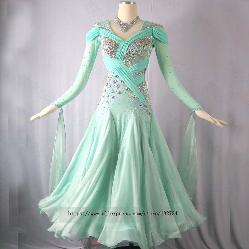 Costumes de danse fournisseur Stretch Performance robe de ballet en gros. robes de concours de danse de salle de bal vêtements de danse B-0539