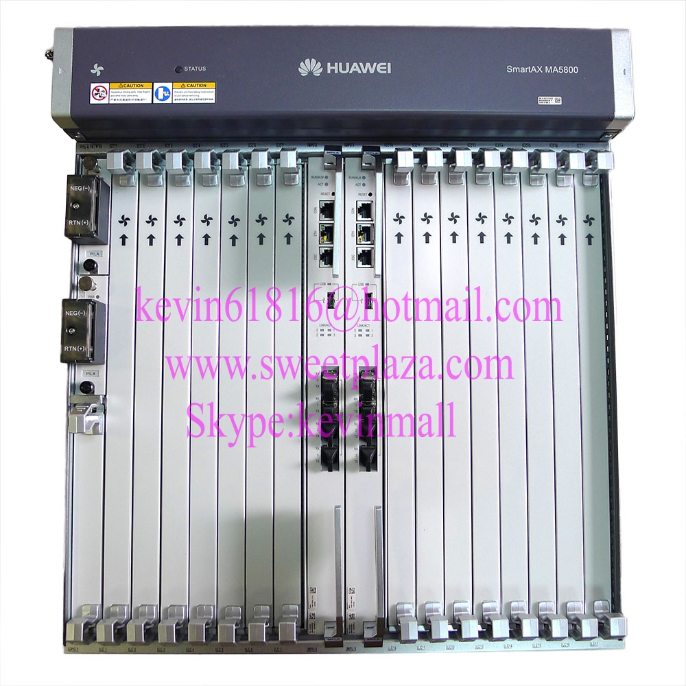 Hua Wei Ma5800-x15 Olt 19 Inch Chassis Optical Line Terminal With 2*10g Control Board Mpla,2*pila Power Board Without Pon Board 100% Original Communication Equipments