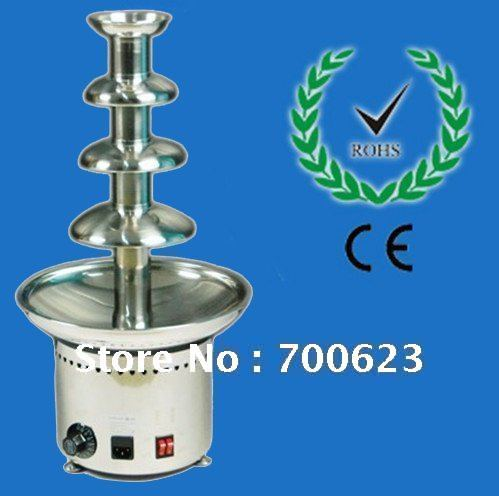 4 Tiers 60CM Stainless Steel Commercial Chocolate Fountain Maker Free Shipping