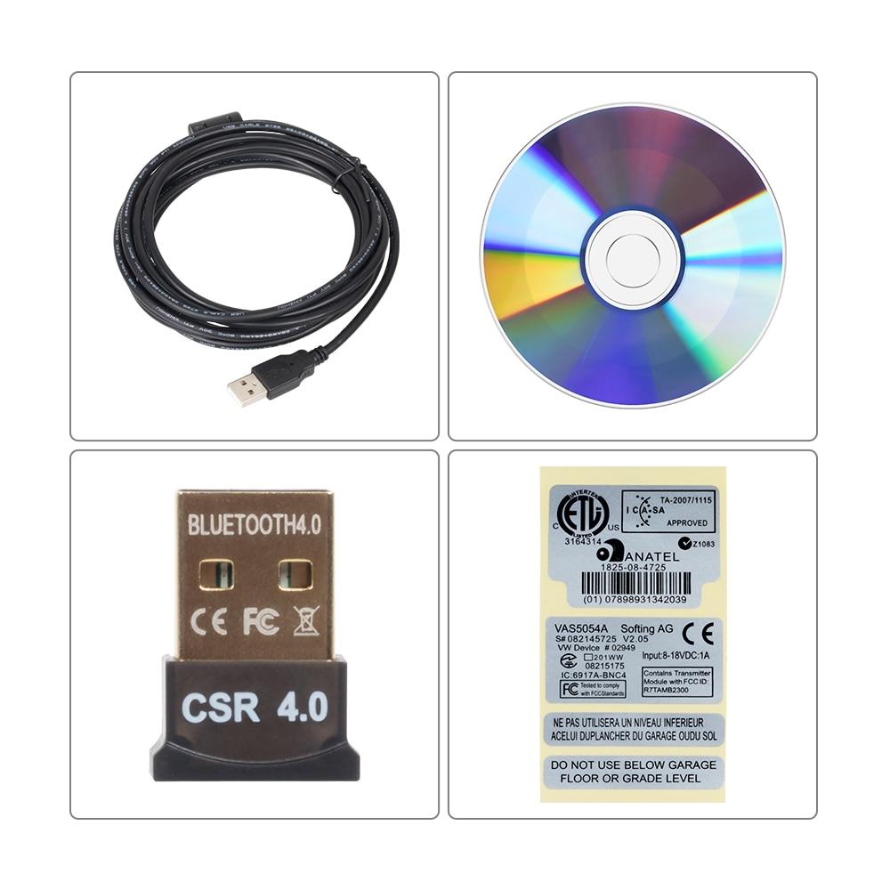 Image 5 - 10pcs VAS5054 ODIS V4.3.3 keygen Full Chip Original OKI Auto OBD2 Diagnostic Tool VAS 5054A Bluetooth code reader VAS 5054 on