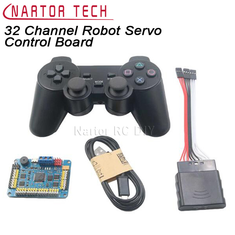 32 Channel Robot Servo Control Board Servo Motor Controller PS2 Wireless Control USB/UART Connection Mode
