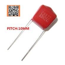 10pcs 630V 220NF 0.22UF 224J PITCH 10MM 630V Pitch 10mm 5% DIP CBB Polypropylene film capacitor