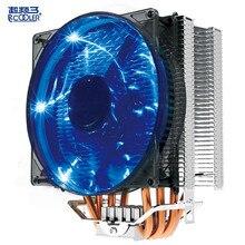 Pccooler X4 cpu cooler 4 heat pipes 12cm 4pin pwm quiet LED fan for AMD AM4 AM3 AM2 Intel 775 1155 1156 cpu cooler radiator