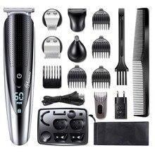 Aparador elétrico profissional à prova dágua, cortador de barba, cabelo, rosto, corpo, alisador, para homens