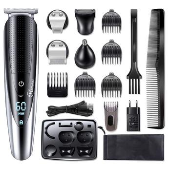 Profesjonalny wodoodporny trymer do włosów trymer do zarostu ciała twarzy maszynka do włosów elektryczne ścinanie włosów maszyna strzyżenie dla mężczyzn pielęgnacja tanie i dobre opinie HATTEKER high quality HK-598 V-012 V-025 100-240v 50 60Hz IP*7 cord or cordless 1 5 hours 60 + minutes Li-ion 145-500mAh