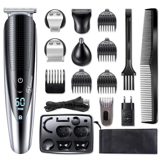 עמיד למים מקצועי שיער גוזם זקן trimer גוף פנים שיער גוזז חשמלי שיער מכונת חיתוך תספורת גברים טיפוח