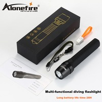 AloneFire HT801 LED Flashlight Diving Flash light Power Bank Torch with Safety Hammer Safety Hammer Work Light
