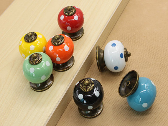 Kitchen Cabinet Drawer Knobs Pulls Handles Ceramic Blue Red Green White Black Orange Yellow Antique Hardware orange blue yellow green red black whie gold white silver ceramic kitchen cabinet drawer knob 38mm children room pull knobs