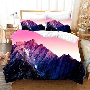 Snow Mountain Landscape 3D Bed