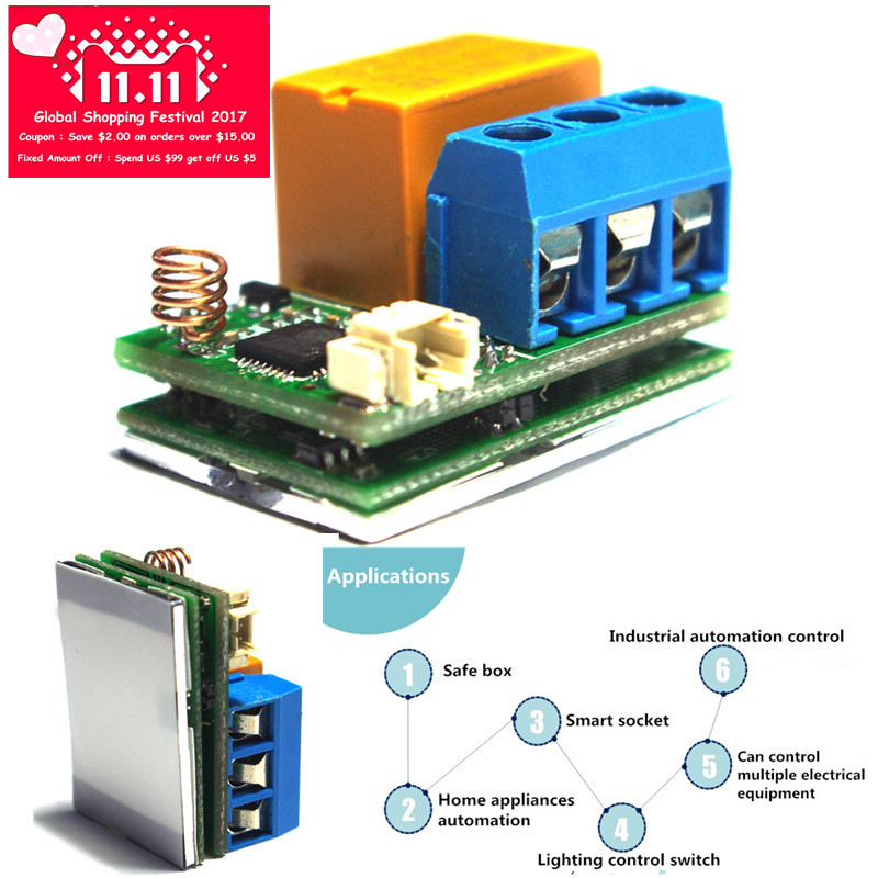 ESP8266 Wifi Touch Relay Module ESP8266 WIFI Internet of Thing Module for Smart Switch Phone App Control 32M Flash