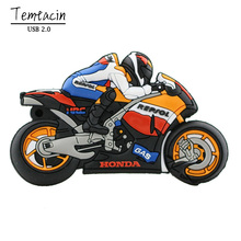 100% Real Capacity Motorcycle U Disk Pen Drive Keychain Gift Pen Drive 8GB 16GB 32GB Moto Car Cartoon USB Flash Drive PenDrive