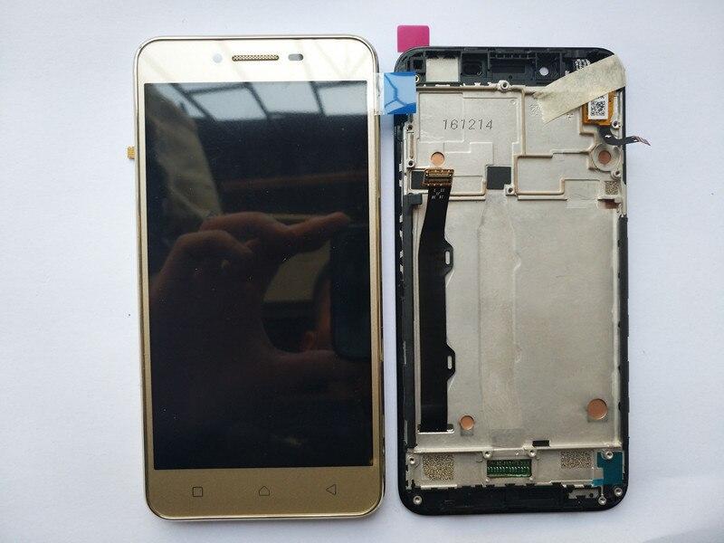 Beste Qualität LCD Display + Touch Screen Digitizer Montage mit rahmen Für Lenovo vibe k5 plus A6020a46 telefon Ersatz