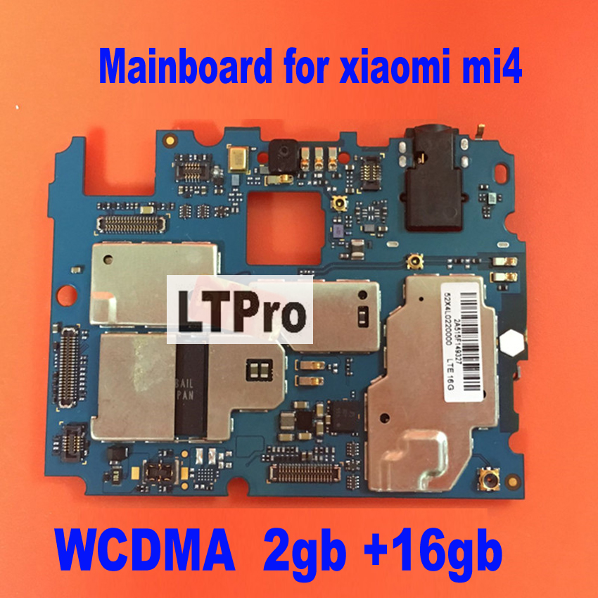 LTPro In Stock Uesd Tested Working 16GB mainboard For Xiaomi Mi4 M4 WCDMA 4G Motherboard Smartphone Repair board Replacement