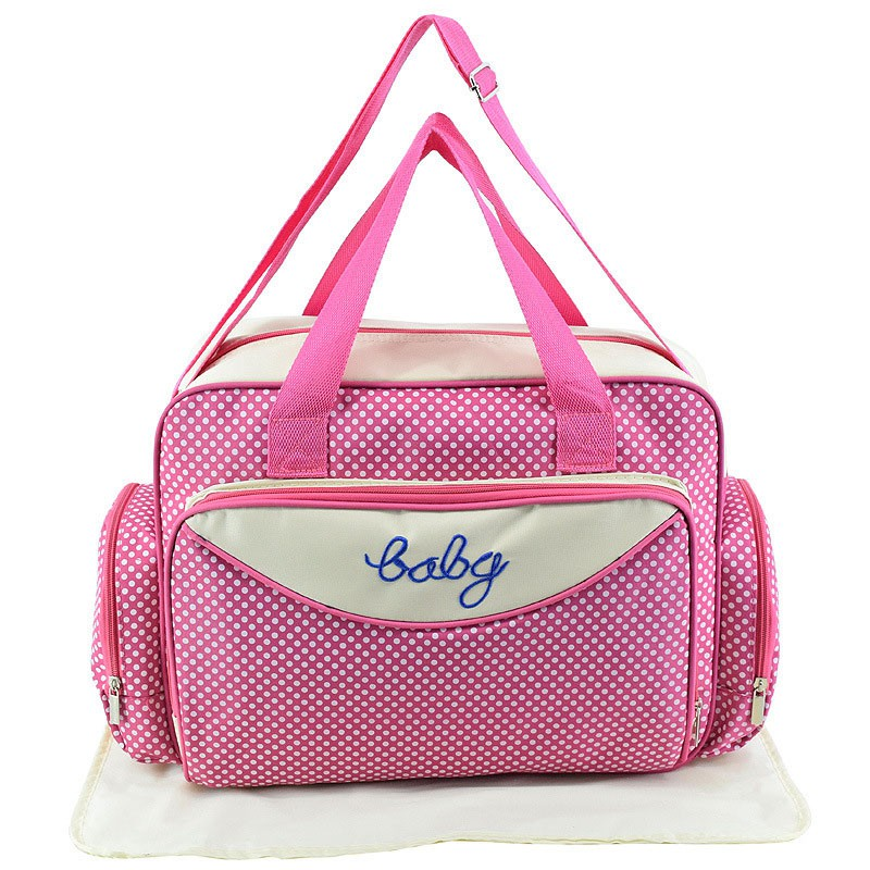 MOTOHOOD Baby Diaper Bag Organizer Baby Care Carriage Bag For Stroller Fashion Dot Multifunction Baby Bags For Mom 451530cm (14)
