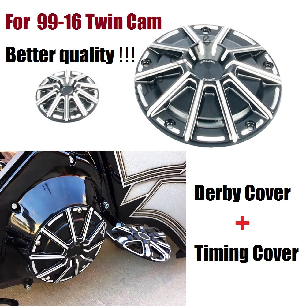 Motorcycles Cover Black CNC Aluminum Derby Cover Timer Timing Cover Fit For Harley 1999-16 Twin Cam цена