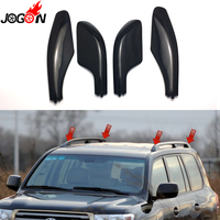 Black Silver Roof Rack Bar Rail End Replacement Cover Shell 4PCS For Toyota Land Cruiser LC100 FJ100 1998 2004 2005 2006 2007