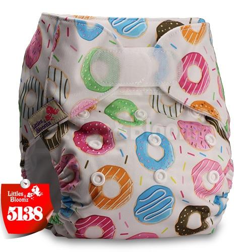 [Littles&Bloomz] Детские Моющиеся Многоразовые, настоящая стандартная ткань, застежка-липучка, карман для подгузников, пеленки, обертывание, подходит для рождения в горшке - Цвет: 5138