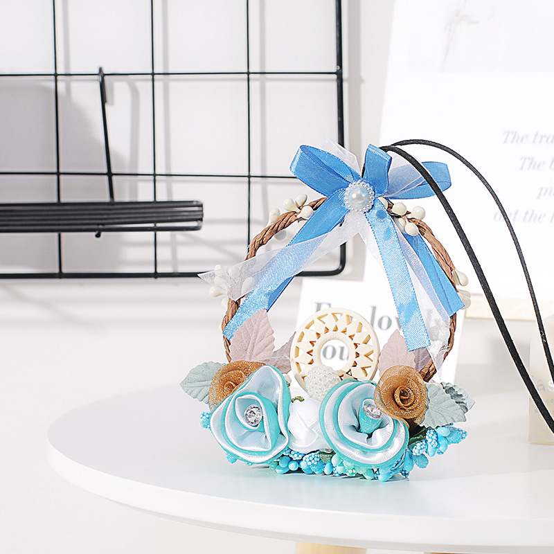 Image 5 - Fashion Car Dream Catcher Blue woven garland Hanging Pendant Home Hanging Decoration craft gift Dashboard Car Mirror Pendant-in Ornaments from Automobiles & Motorcycles