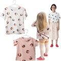 Bobo Choses T-shirt Das Crianças Roupa Dos Miúdos Meninos Grils Cobrem o Algodão Roupa Da Criança Voleibol Impresso Tee-Camisa de manga Curta